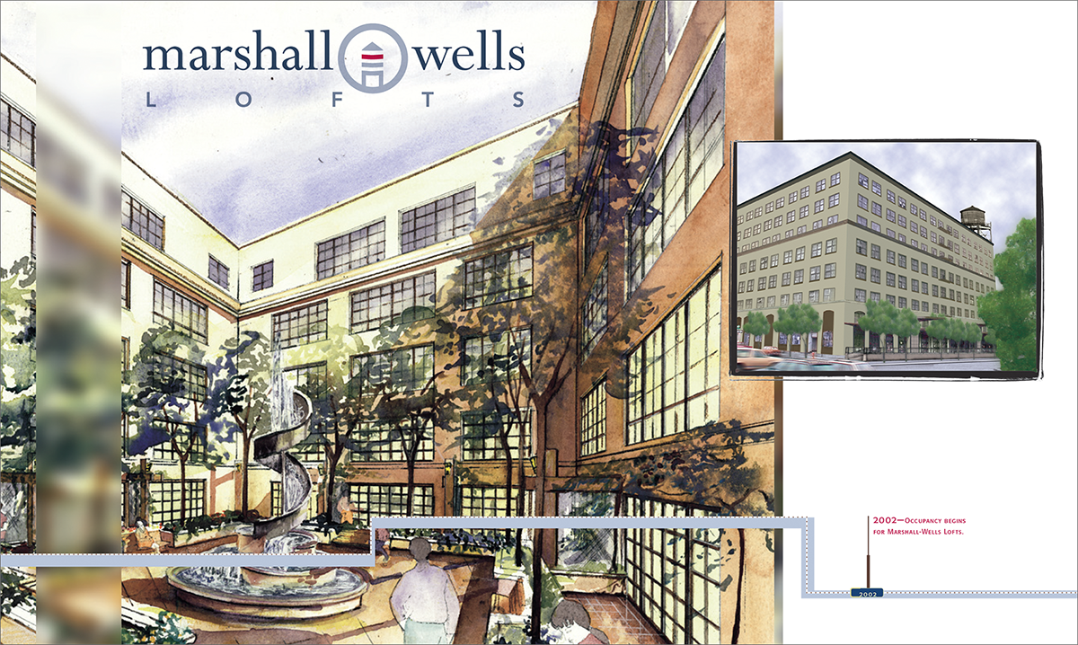 Logo design for Marshall-Wells Lofts