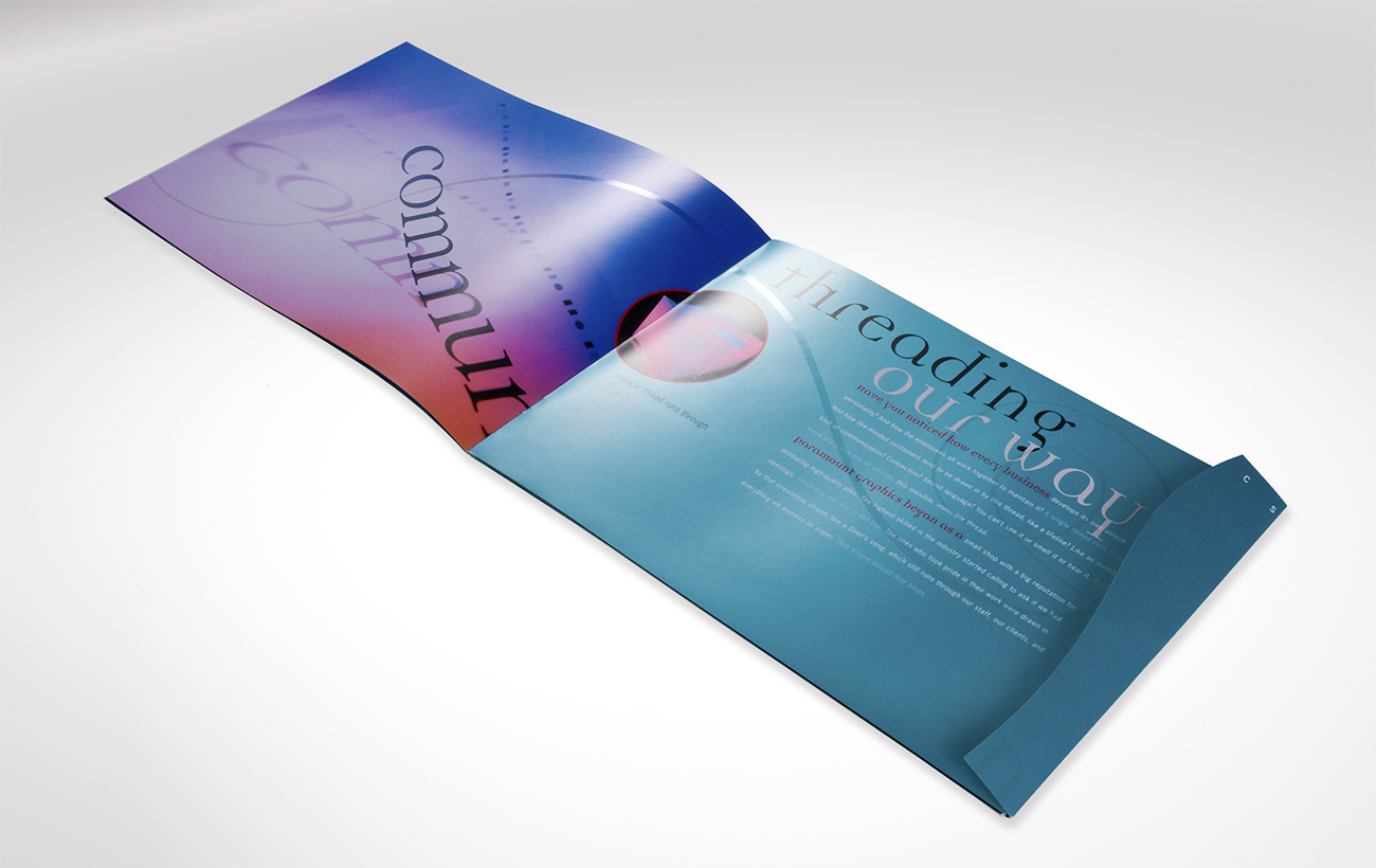 Brochure and photoshoot art direction for print company.