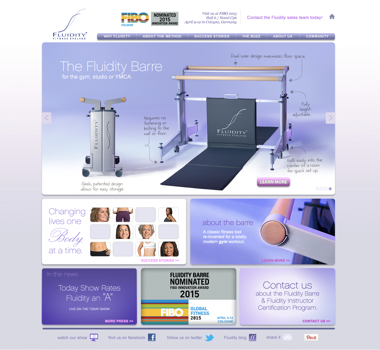 Website design and art direction for studio gym Fluidity Barre.